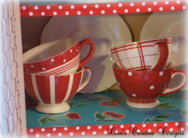 red and white polka dot mugs