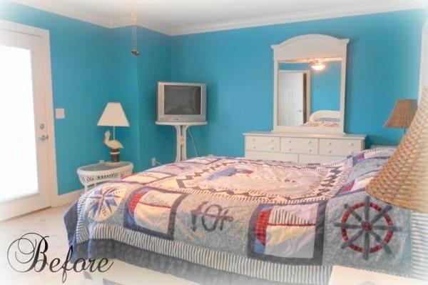 Beachy Bedroom Before