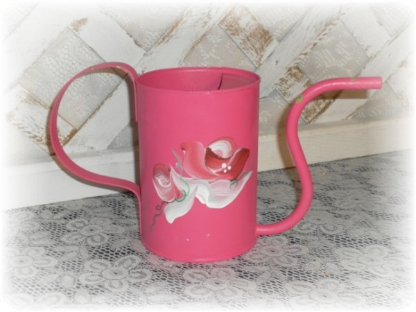 pink rose water pitcher