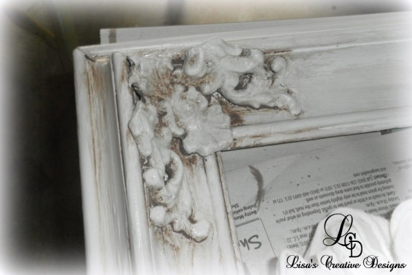 Aging a picture frame