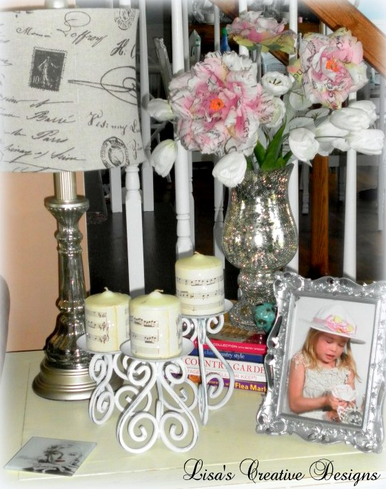 For the Love of Mercury Glass... Decorating a Summer Mantle
