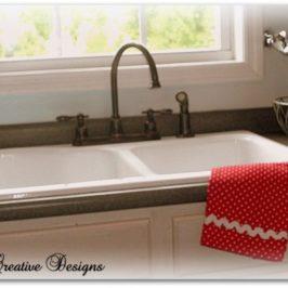 "My Farmhouse Kitchen….Installing A ""New"" Cast Iron Kitchen Sink"