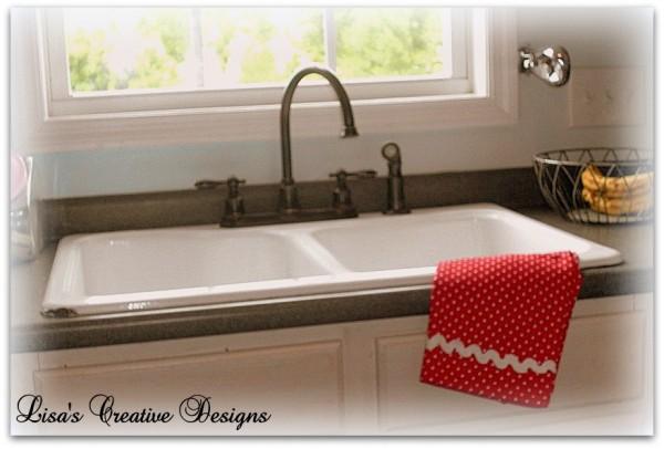 cast iron double basin enamel sink