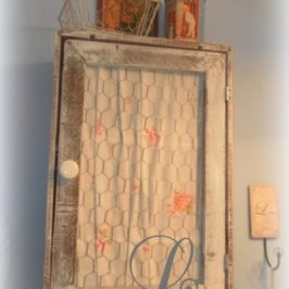 Crafting An Upcycled Medicine Cabinet