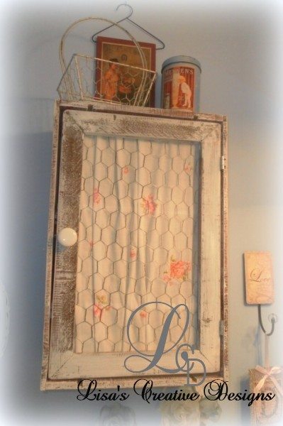 an upcycled crate medicine cabinet