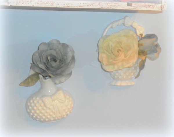 shabby chic bathroom hobnail wall vase