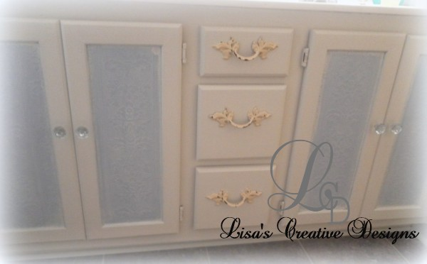 shabby chic bathroom cabinet makeover