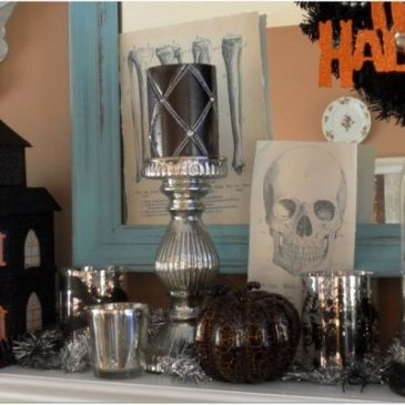 Decorating A Halloween Mantle