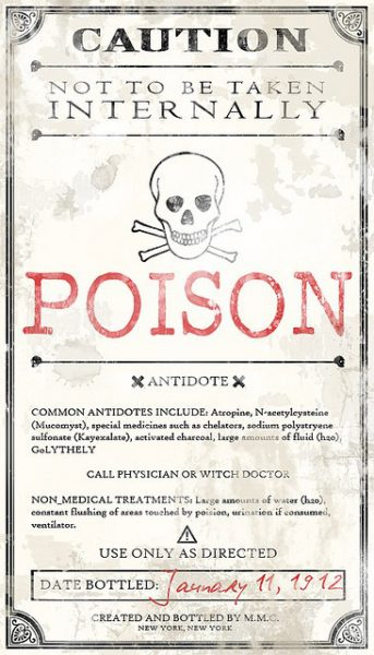 Printable Halloween Poison Label