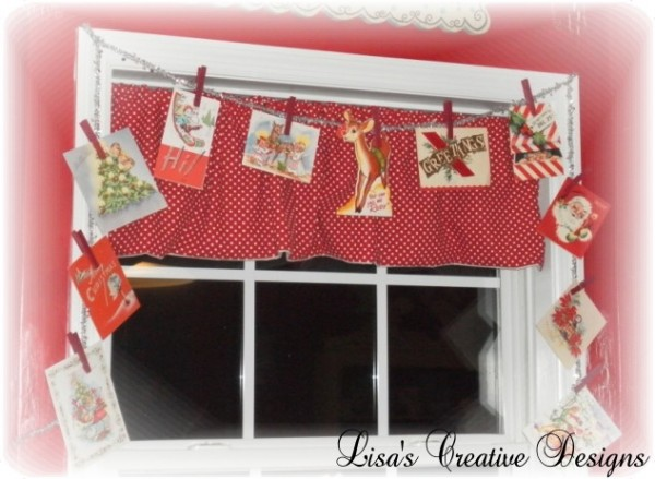 Vintage Christmas Card Display