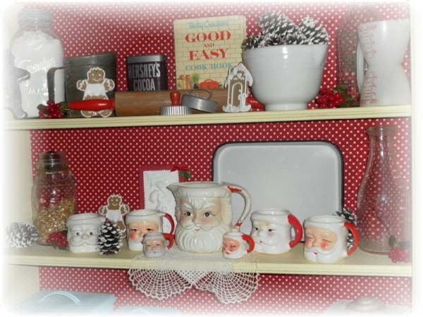 Vintage Christmas Kitchen Display