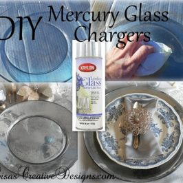 DIY Mercury Glass Charger Plates