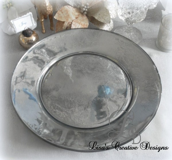 How to Create Your Own Mercury Glass Charger Plates