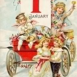 Vintage New Year Postcard