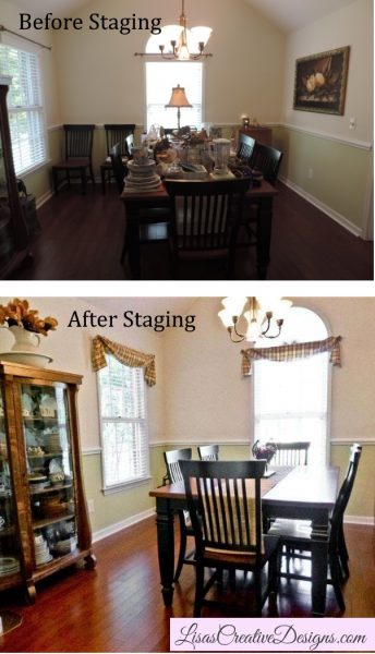 Before and After Staging A Dining Room In Wilmington NC