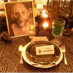 Decorating For A Halloween Dinner Party