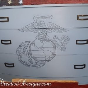 Semper Fidelis Marine Inspired Dresser Chest Of Drawers