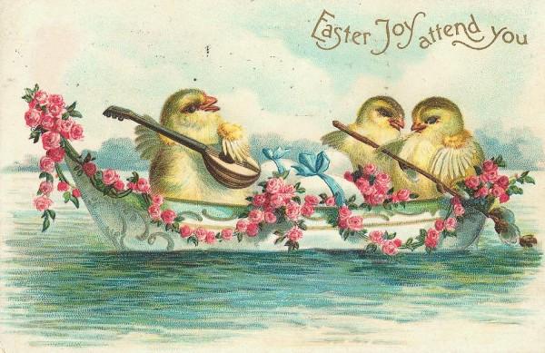 vintage victorian easter card