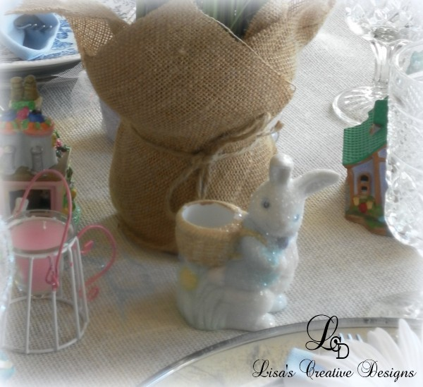 glittered easter bunny