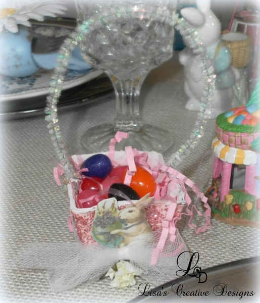 vintage inspired easter nut cup