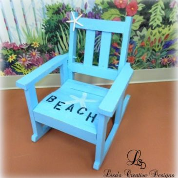 A Shabby To Chic Beach Rocking Chair Makeover & Master Bedroom Update