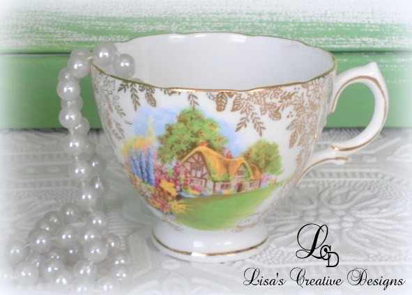 Shabby Chic Cottage Tea Cup