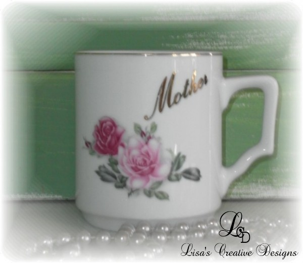 vintage mother tea cup