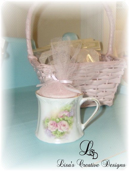 small candle tea cup favor