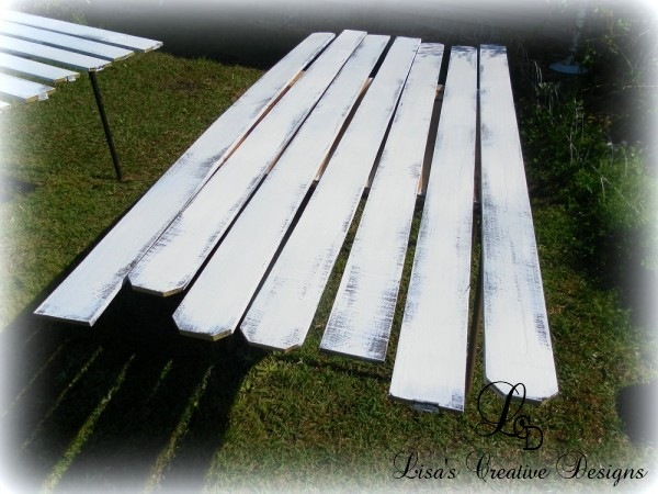 painted fence pickets