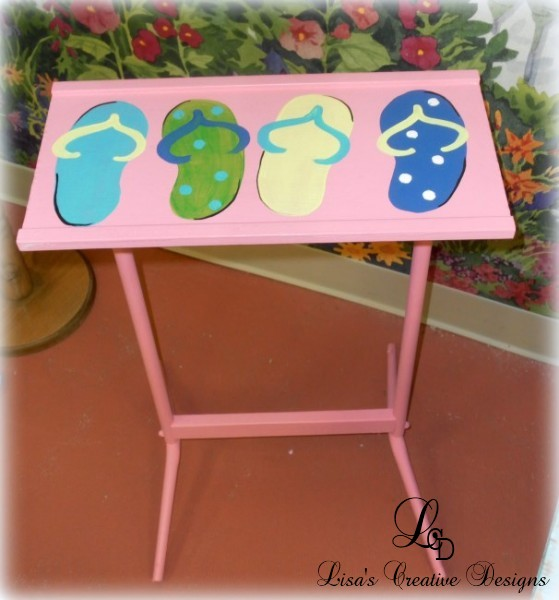flip flop accent table