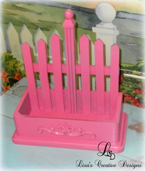 hot pink picket fence planter