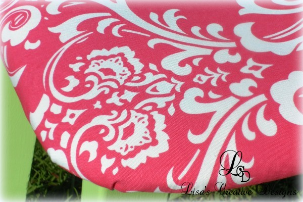 hot pink damask fabric
