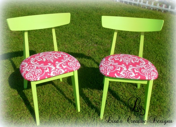 trendy lime green chairs