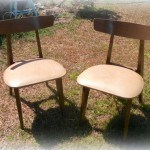 mid century mod chairs before