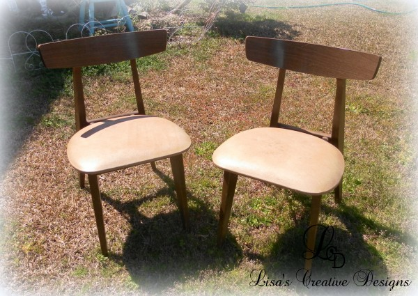 vintage mid century mod kitchen chairs