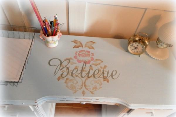 Stencilled Desk