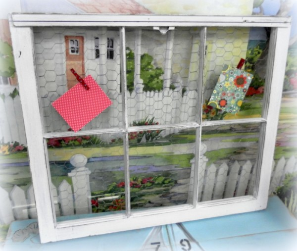 Upcycled Window Bulletin Board