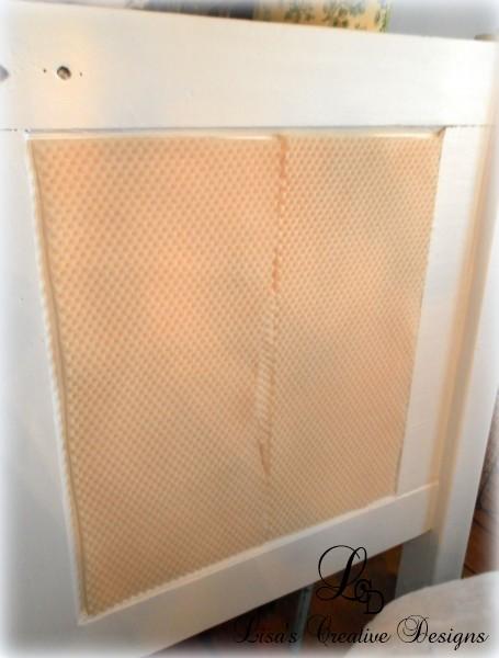 upholstering a vintage door headboard