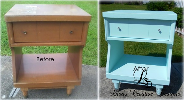 A Cool Mid Century Modern Night Stand Makeover, Good Bye Grandma..Hello Gorgeous!