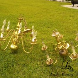 More Upcycled Lighting : A Couple Of Thift Store Chandelier Makeovers