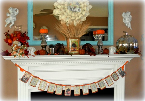 Thanksgiving Mantel by Lisas