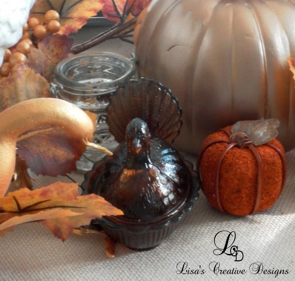 A Thanksgiving Tablescape, Turkey Candy Dish