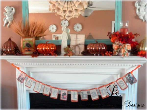 Decorating A Mantel For Thanksgiving