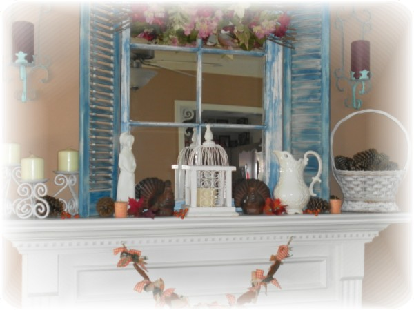 Thanksgiving mantel 2010 by Lisas Creative Designs