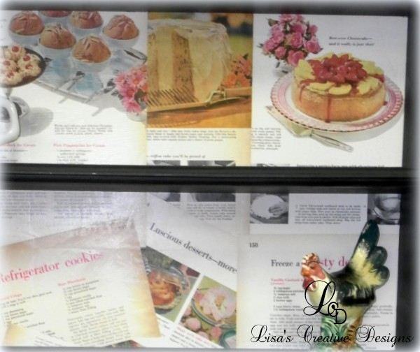 upcycled vintage cook book pages