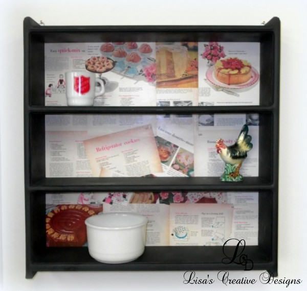 An Upcycled Kitchen Display Shelf