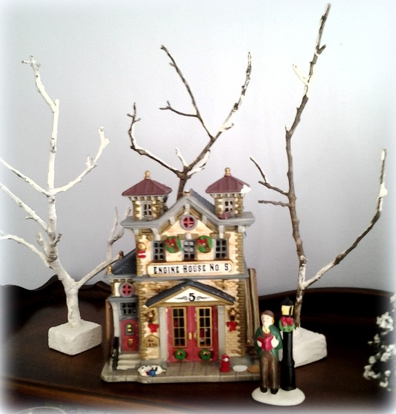 Faux Snowcovered Trees