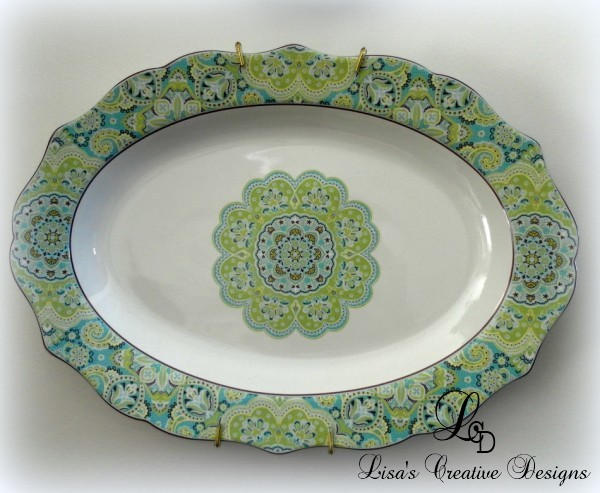 Blue and Lime Green Platter