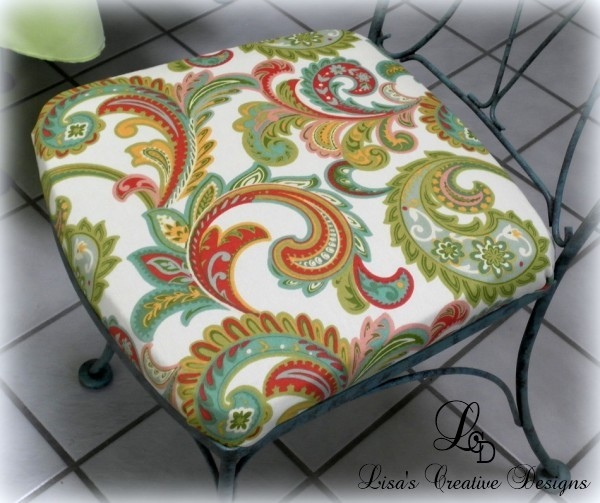 A Colorful Kitchen Chair Seat