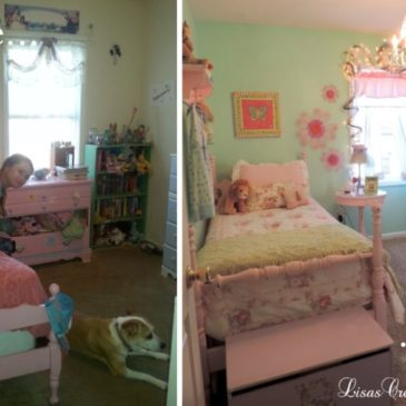 A Pastel Shabby Chic Inspired Girl's Bedroom Makeover